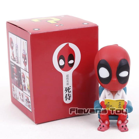 Deadpool Dead pool Taco Funny  Sitting On The Toilet Sofa PVC Figure Toy Car Desktop Home Decoration Doll AT_70_6