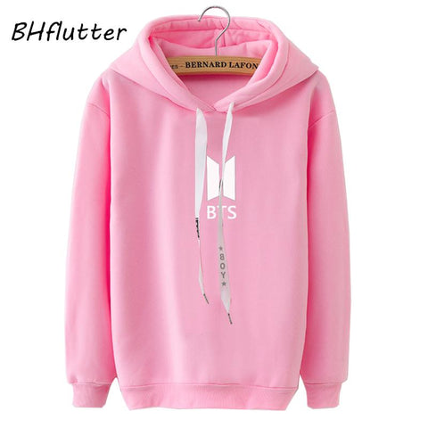 KPOP BTS Bangtan Boys Army BHflutter Blackpink Hooded Sweatshirts Women Fashion Casual   Hoodies Tops Female Fleece Warm Winter Tracksuit Pull Femme AT_89_10