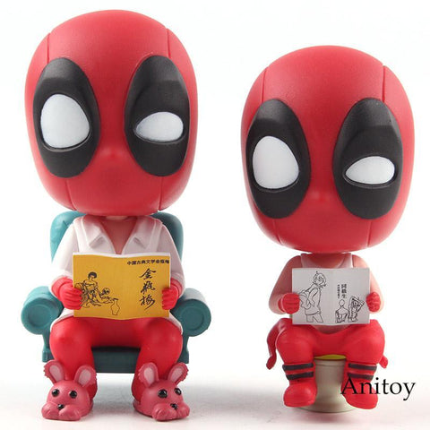 Deadpool Dead pool Taco Marvel Toys Funny Merc with A Mouth  Action Figure PVC Desktop Car Decoration Home Toy Doll AT_70_6