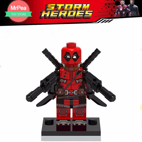Deadpool Dead pool Taco Decool Single Sale superhero Armed  building blocks bricks toys for children EDC technic FIT for legoings for minifigure AT_70_6