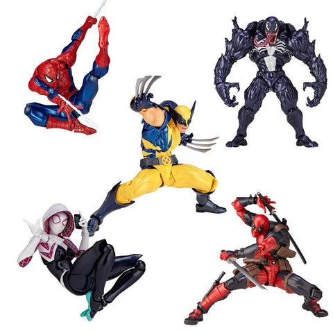 Deadpool Dead pool Taco Marvel 16cm Series 001 002 003  Venom Spiderman spider gwen wolverine Captain America Carnage PVC Action Figure Toy AT_70_6