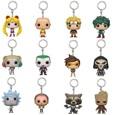 Kawaii Sailor Moon Sailormoon Anime figure keychain Naruto My Hero Academia Midoriya Izuku  Punch Superman Classic Collection Good Gift for Kids