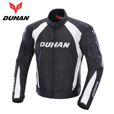 Trendy DUHAN Motorcycle Jacket Racing Sports Jacket Clothing with Five Protector Breathable Waterproof and Windproof Laminated Fabric AT_94_13