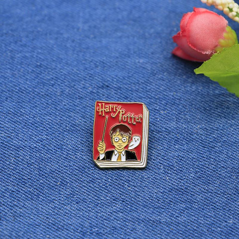 Trendy Children's Book Brooches Harry Potter Enamel Pin for Girls Lapel Pin Hat/bag Pins Denim Jacket Shirt Women Brooch Badge SC4243 AT_94_13