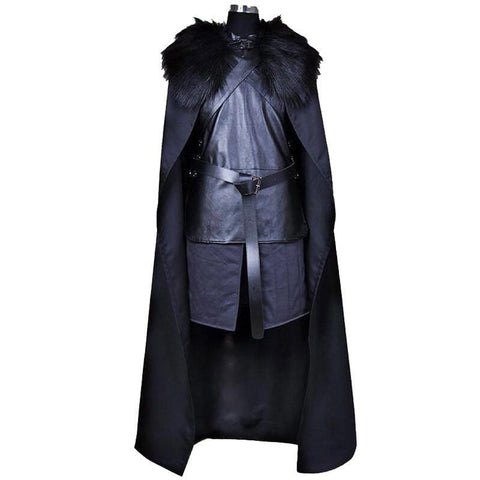 Winter Game of Thrones GOT Brand American TV Series  Cosplay Costume Jon Snow Cosplay Knight Role Play Costume Halloween Plus Size XXXL AT_77_7
