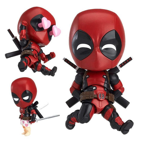 Deadpool Dead pool Taco 10cm new Marvel figure Superhero Nendoroid Series #662 Cute  Orechan Edition PVC Action Figure Collectible Model Toy AT_70_6