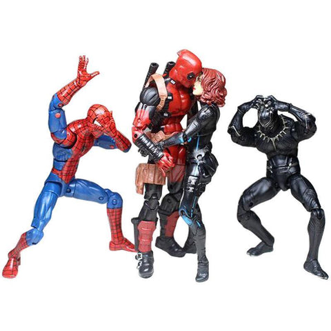"Deadpool Dead pool Taco DIY 2PCS 6"" Marvel Legends Pizza/Venom Spiderman  Black Widow Panthers X-Men Anime Movies Funny Action Figure Gift Toy AT_70_6"