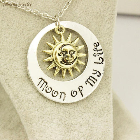 Winter Game of Thrones GOT Movie Jewelry New Fashion Moon  My Life Sun Star Necklace Song  Ice And Fire Necklace  Pendants AT_77_7