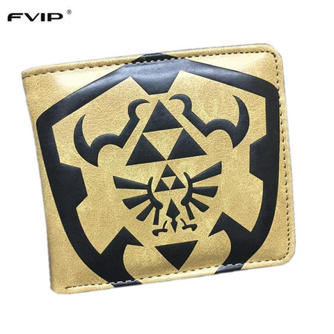 Legend of Zelda Link FVIP New Design Cartoon Wallet  Batman Dragon Ball Spider-Man Harry Potter Card Holder Short Wallets Dollar Price Purese NES Switch AT_87_9