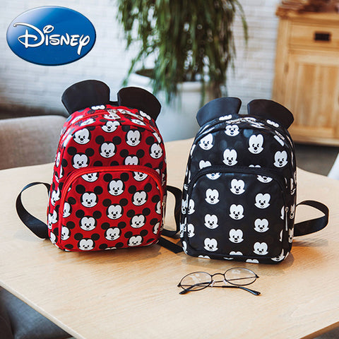6b778f858efd Disney 2018 Minnie Girls Backpack Kids Mickey Mouse School Bag New Cartoon  Children Boy Backpacks Nylon ...