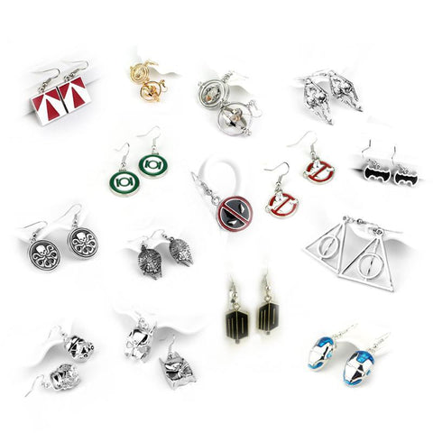 Winter Game of Thrones GOT 19 Types Movie Earrings  Deadpool  Doctor Who Resident Evil Jewelry Gift For Fans   AT_77_7