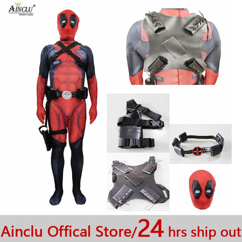 Cool Ainclu Hot Halloween Cosplay Full Body Deadpool 2 Costume Adult Digital Print Lycra Costume Kids Adults Deadpool Cosplay zentaiAT_93_12