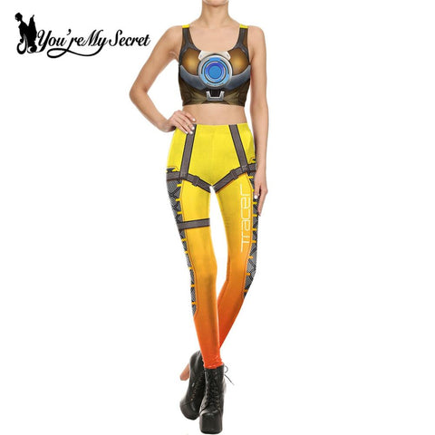 Star Wars Force Episode 1 2 3 4 5 [You're My Secret] Fashion America Deadpool Leggins Woman Movie Cosplay Slim  2 piece Women's Crop Top and Legging Set AT_72_6