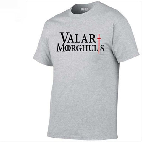 Winter Game of Thrones GOT Men's Neck T Shirts 100% Cotton Hot Sale  Valar Morghulis Printed T-Shirt 2017 Summer Fashion Casual Short Sleeve AT_77_7
