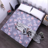 Cool Kekegentleman 100% Polyester Fitted Sheet Mattress Cover Solid Color Bed sheet With Elastic Band Twin Double Queen King SizeAT_93_12