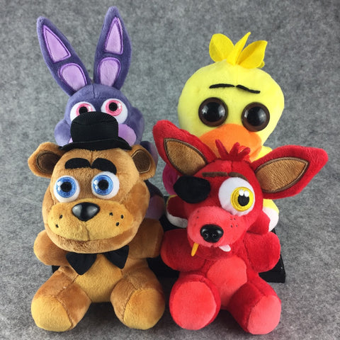 Kawaii Five Nights At Freddy's 4 Juguetes Fnaf World Freddy Bear Chica Bonnie Plush Stuffed Animal Foxy Kids Toys Peluches Doll