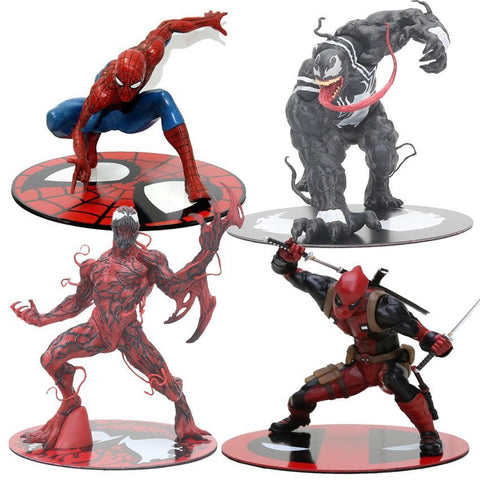 Deadpool Dead pool Taco Marvel The Avengers Super Heroes Venom Spiderman Carnage  ARTFX STATUE Pre-Painted The Amazing Spider Man Model Kit Toys AT_70_6