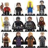 12pcs Game of Thrones Legoingly Jon Snow Figure Set Dany Sansa Tyrion Cersei Jaime Lannister Petyr Baelish Building Block Toys