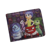Anime INSIDE OUT Wallet Fashion Cartoon Girl's Wallets Short Slim Purple Leather Cash Bag ID Card Holder Purse carteira feminina