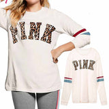 VS Secret Love Pink Women Long Sleeve Shirt Vegan Vintage Streetwear Bt21 Bts Friends Punk Tops White Tee Shirt Femme Plus Size