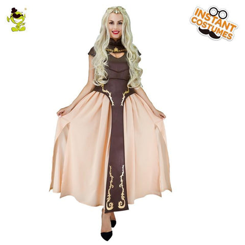 Winter Game of Thrones GOT The  Costumes Halloween Carnival Party Gorgeous Queen Cosplay Fancy Dress Adult Women Deluxe the mother  Queen AT_77_7