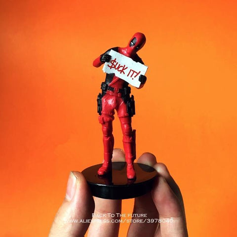 Deadpool Dead pool Taco Disney Marvel X-Men 9cm  2 Action Figure Posture Model Anime Decoration PVC Collection Figurine Toys model for children AT_70_6