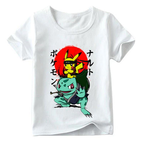 Children Naruto Pikachu In Thor Armor Anime  Go T shirt Baby Boys/Girls Summer Top T shirts Kids Casual Clothes,HKP5069Kawaii Pokemon go  AT_89_9