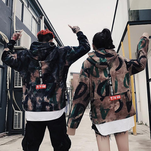 KPOP BTS Bangtan Boys Army Privathinker Women  Hooded Hoodies 2018 Woman Harajuku Oversized Fake Two Pieces Sweatshirt Womens Hiphop Korean Windbreaker AT_89_10