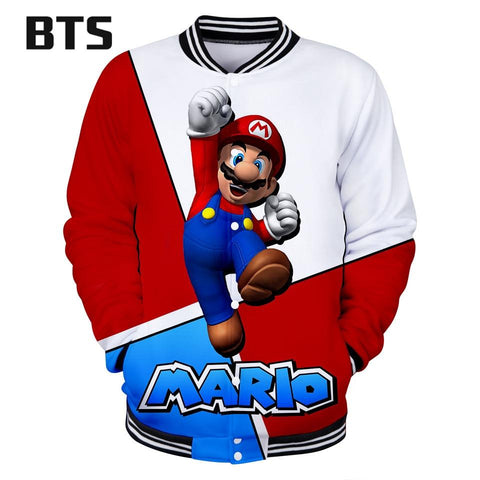 Trendy BTS Hot Sale 3D Mario Fashion Jacket Rrint O-neck Long Sleeve Baseball Jacket for Women/Men Clothes 2018 Plus Size Q0808-Q0817 AT_94_13