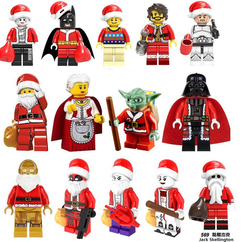 Deadpool Dead pool Taco For lEGOING Christmas Halloween Figures Santa Claus Joker  Darth Vader Harley Quinn Grinch Building Blocks Bricks Toys AT_70_6