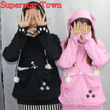 Cat Lovers Hoodies With Cuddle Pouch Mewgaroo Nyangaroo Dog Pet Hoodies For Casual Kangaroo Pullovers With Ears Sweatshirt 3XL - Animetee - 1