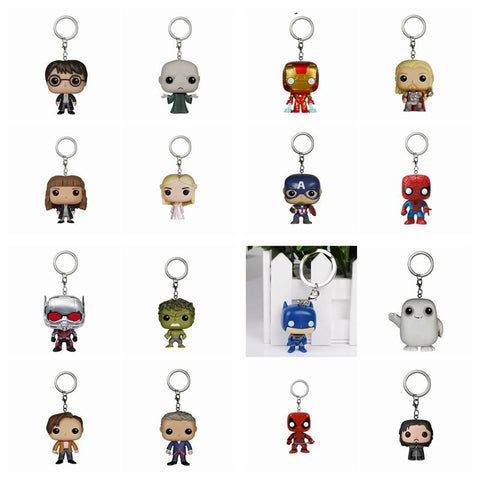 Batman Dark Knight gift Christmas 10pcs/lot Harry Potter  Spider man Hulk Batman  Jack Thor  Game of Thrones Daenerys  Action Figure Toy  With Keychain AT_71_6