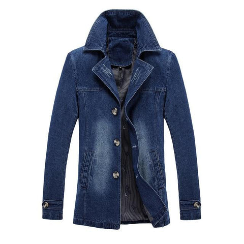 Trendy FGKKS New Brand Denim Jacket Men Windproof 2018 Autumn Fashion Denim Jacket Coat Turn Collar Denim Men's Jacket AT_94_13