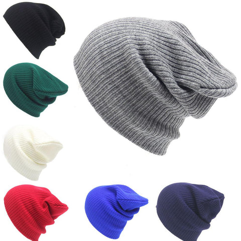 6efaf3426e Men Winter Caps Winter Hats For Women Knitting Beanies Pure Color Joker  Autumn And Winter Fashion Warm Earmuffs Adult Cap Hats