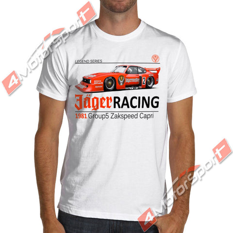Racinger Ford Capri Group 5 DRM 1981 ZAKSPEED Jagermeister T Shirt denim clothes camiseta?t shirt cat windbreaker Pug Trump swea