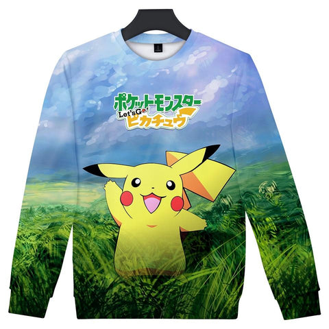 BTS 2018  Go Pikachu Eevee Fans Print 3D Women/Men Sweatshirts Hoodies Hip Hop Anime Capless Hoodie Clothes Plus Size 4XLKawaii Pokemon go  AT_89_9