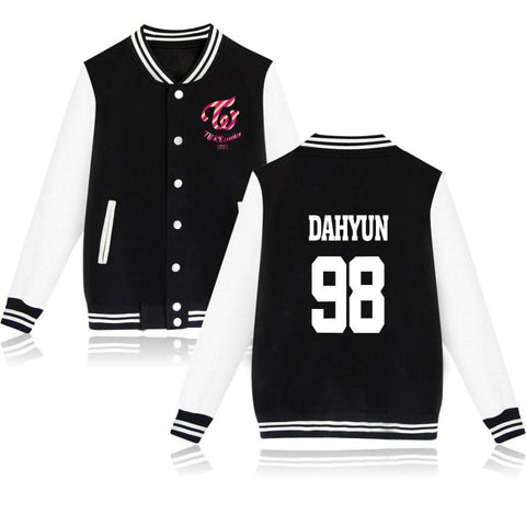 Trendy 2018 bts Kpop Twice Baseball Jackets bomber jacket men women casaco masculino MINA DAHYUN CHAE YOUNG  Women Plus Size Streetwear AT_94_13