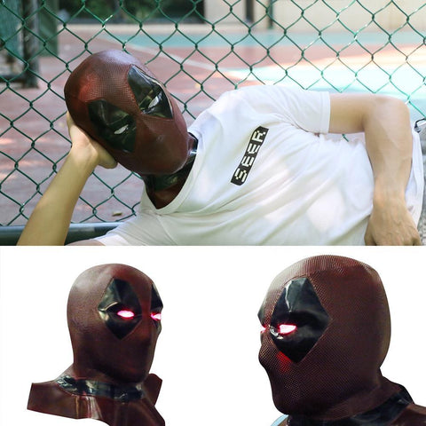 Deadpool Dead pool Taco  2 Marvel  Masks With Led Light Cosplay Costume Props Superhero Movie Latex Mask Collectible Toys Full Face Mask AT_70_6