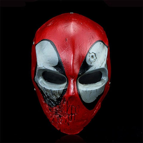 Deadpool Dead pool Taco Caricature Movie  Mask High Quality Hand Printed Resin Superhero Cosplay Party Masquerade Masks Collection Home Decor AT_70_6