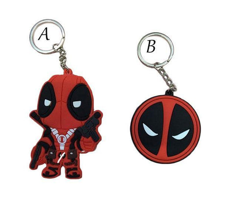 Deadpool Dead pool Taco 1PCS 4.5-8CM Cool Animation  X-men Metal PVC Figure Toy Keychains Pendants 2 Styles Creative Gifts AT_70_6