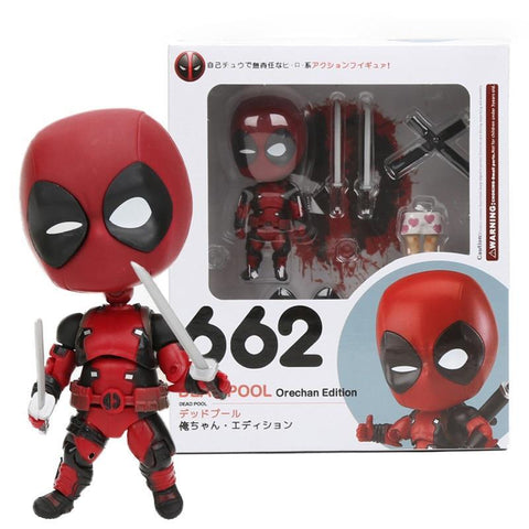 Deadpool Dead pool Taco Mini 10cm Nendoroid Superheroes  Orechan Edition PVC Action Figure NO 622 Super Hero Collectible Model Dolls Toys 1/10 AT_70_6