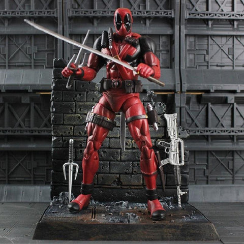 Deadpool Dead pool Taco 18cm  X-Man Reaper PVC Action Figure Toy Collection Model Toy For Kid Gift AT_70_6