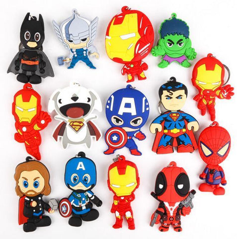 Deadpool Dead pool Taco Marvel Resin Figures Keychain Toys Ironman Iron man  Hulk Captain America Keyrings Action Figure Key Chain Kid Gift Toys AT_70_6