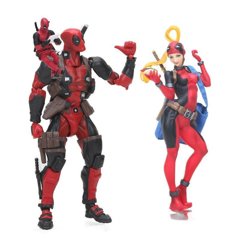 Deadpool Dead pool Taco 7-33cm  Figure Action Wade Wilson ARTFX  with  Lady  Collectible Model Dolls Toys Change Face Hot AT_70_6