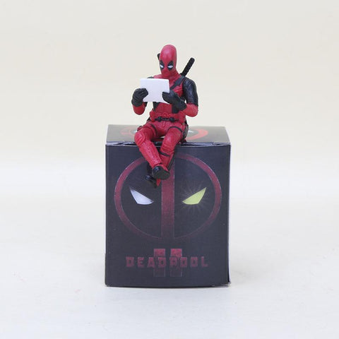 Deadpool Dead pool Taco anime spiderm figura Super Heros  Sitting Yamaguchi Style Joint Anime Action Toy Q version Figure Model Collection toy AT_70_6