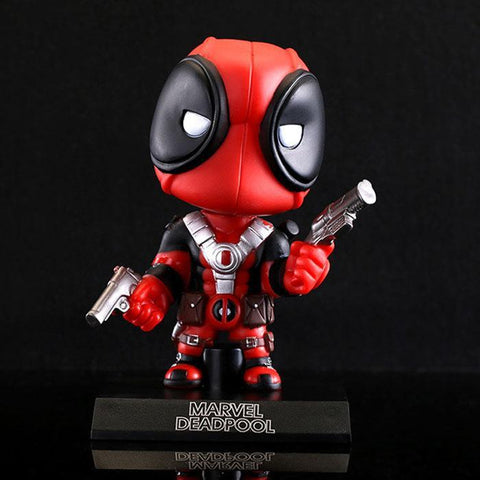 "Deadpool Dead pool Taco X-men  Figure Q Version PVC Toy Bubble Head With Base 5"" 13cm AT_70_6"