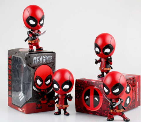 Deadpool Dead pool Taco Marvel 10cm  Figure Bobble-Head 1/10 scale painted  spider man Black Panther Doll PVC action figure toy AT_70_6