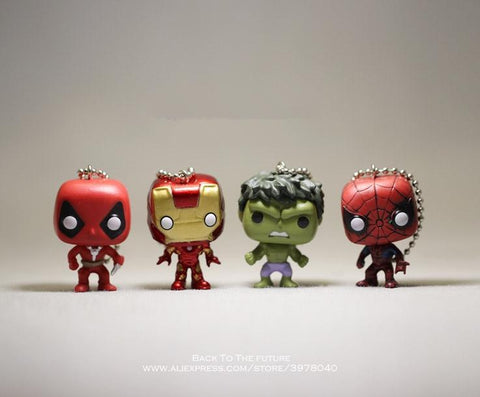 Deadpool Dead pool Taco Disney Marvel Iron Man Hulk Spider Man  4cm 4pcs/set Action Figure Posture Anime Collection Figurine Toys model children AT_70_6
