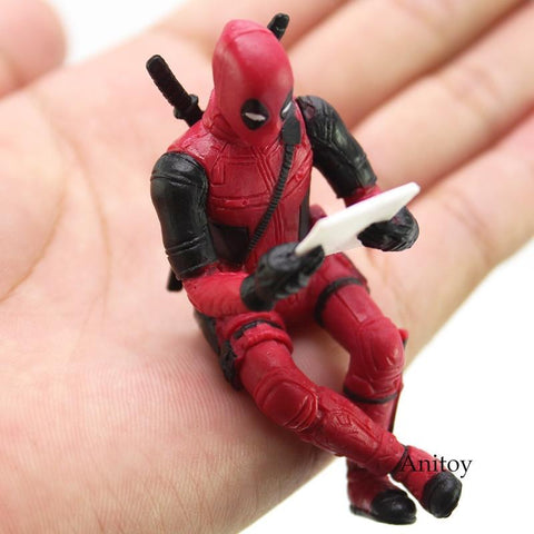 Deadpool Dead pool Taco Marvel  Figure X-Men Toys Mini Black Panther Figure Computor Partner PVC Action Figure Collectible Model Toys AT_70_6