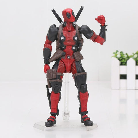 Deadpool Dead pool Taco Marvel Revoltech NO.001-007 The Avengers  Spiderman Venom Wolverine Captain America Magneto Iron Man Movable Figure Toy AT_70_6